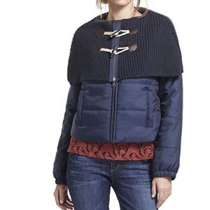 Anthropologie toggle puffer coat in navy